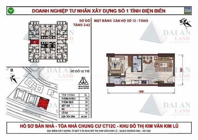 Căn 12 - Chung Cư Kim Văn Kim Lũ CT12C