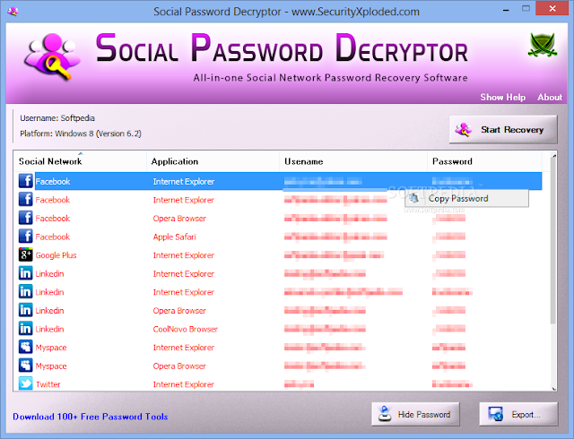 Social Password Decryptor Portable 1