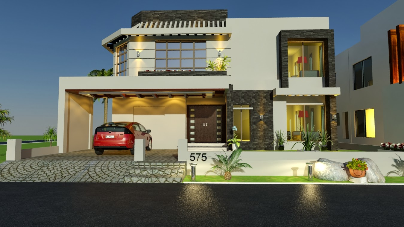 Front Elevation Images Free Download : Pakistani bungalow elevation joy studio design gallery