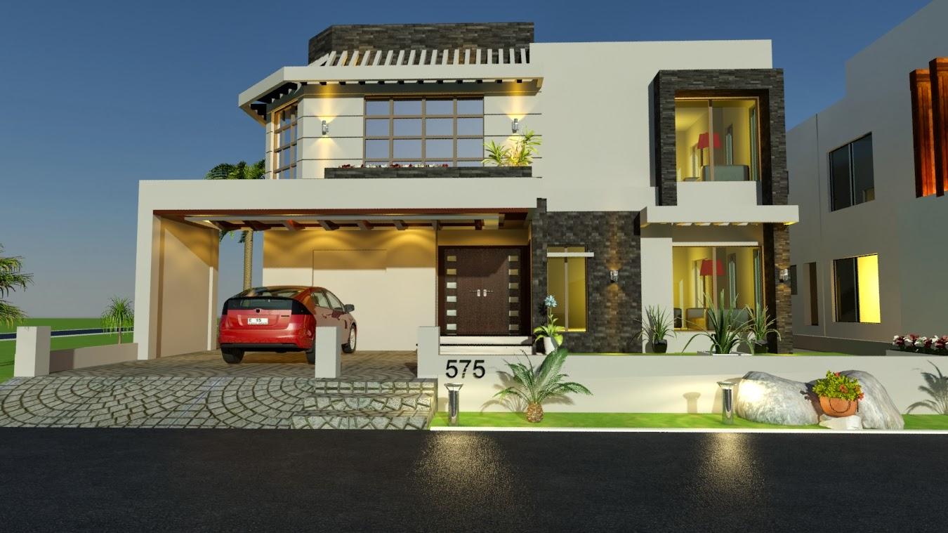 3d Front Elevation Free Download : Pakistani bungalow elevation joy studio design gallery