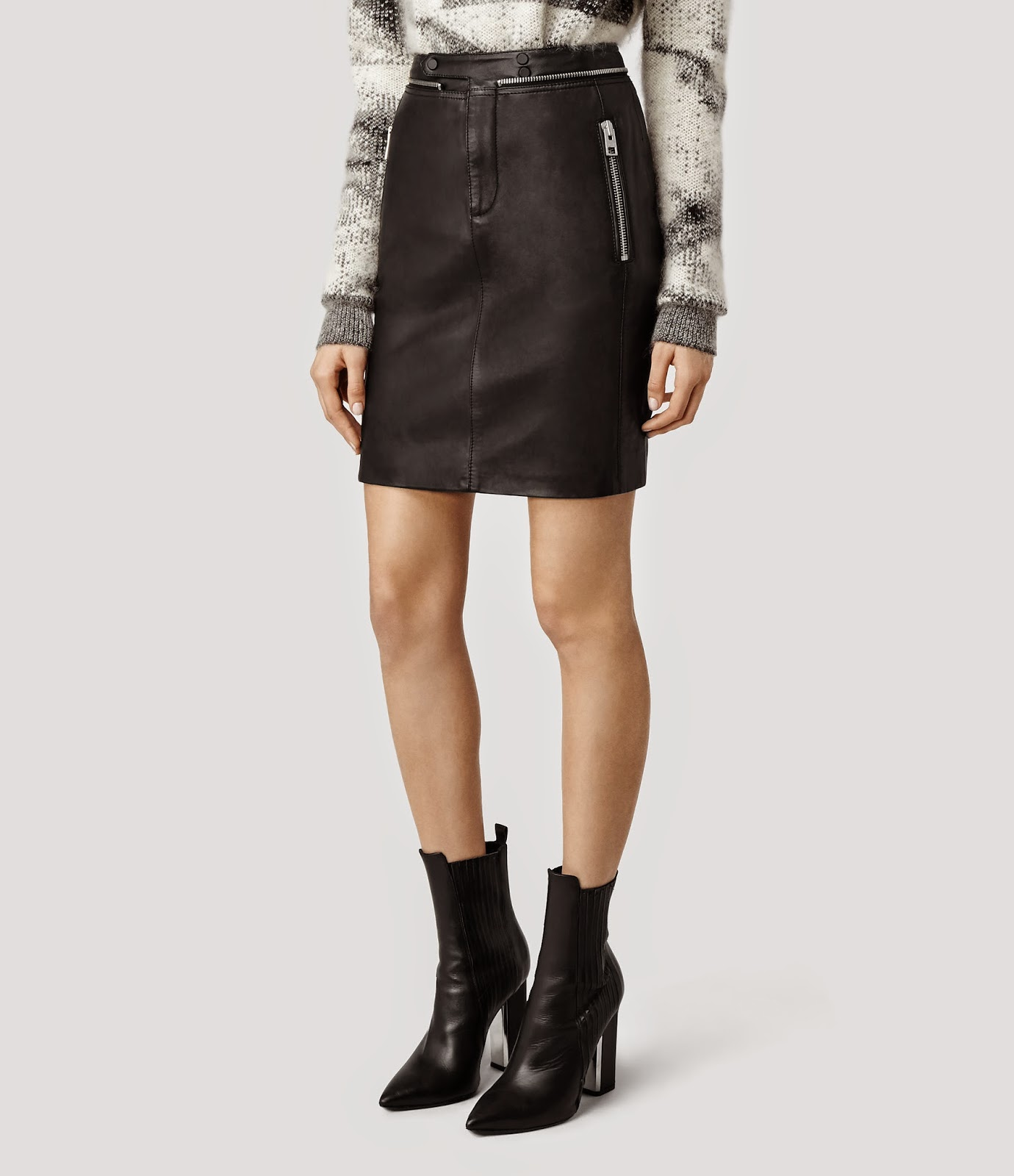 welcome to fabbylife allsaints leather skirt sweater on