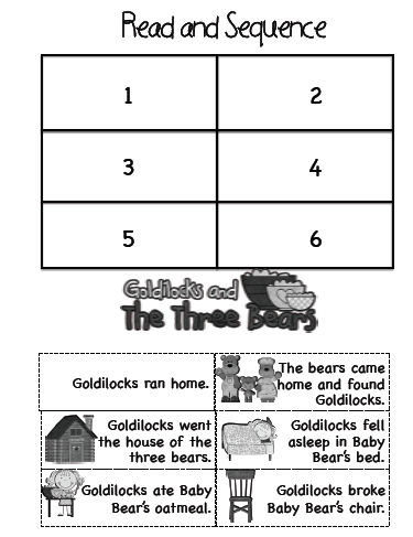 math worksheet : sarah s first grade snippets fairy tale literacy pack : Goldilocks And The Three Bears Worksheets Kindergarten
