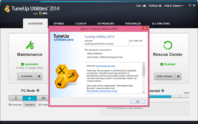TuneUp Utilities 2014 with key free