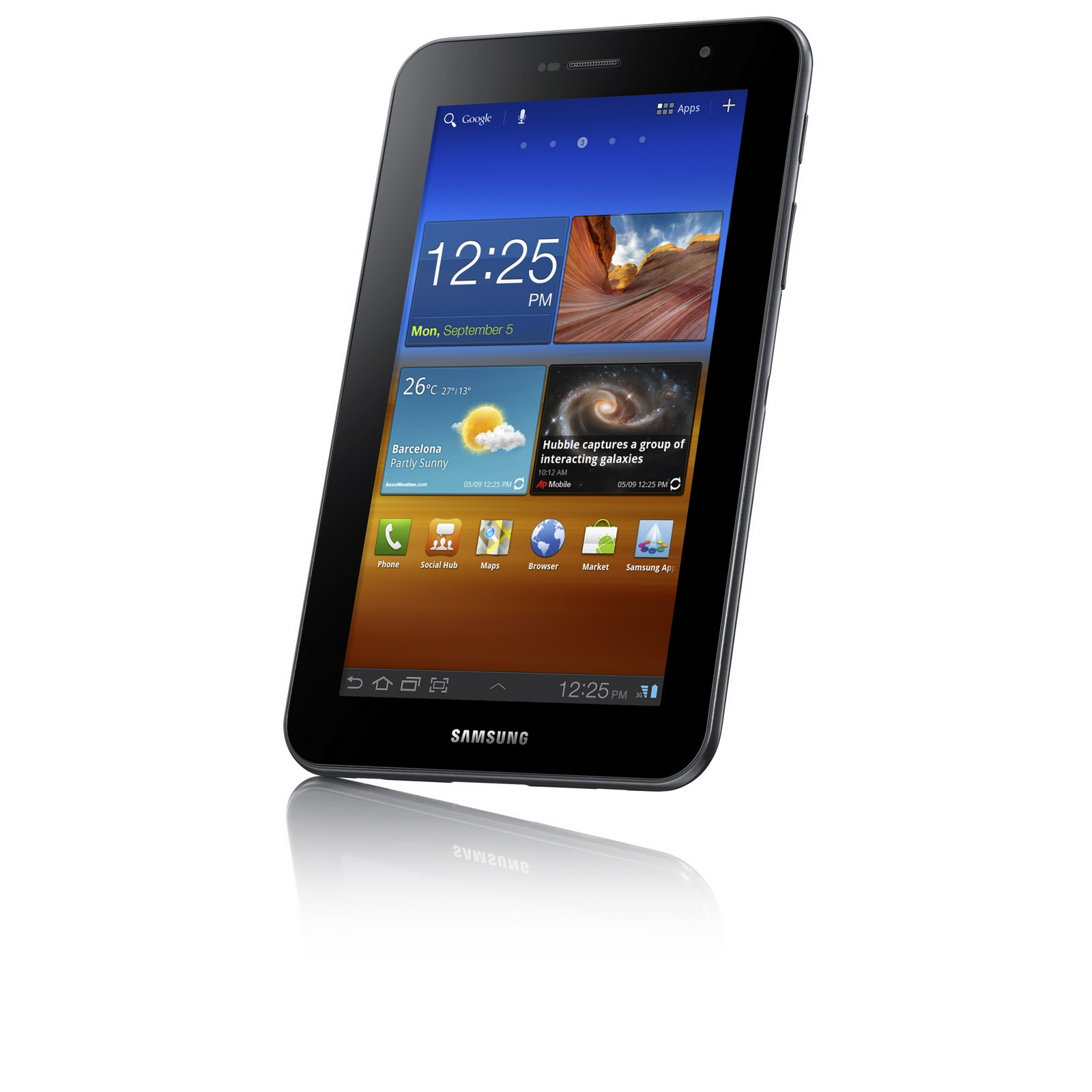 Galaxy Tab 7.0 Plus is a 7 inches medium range Android tablet from