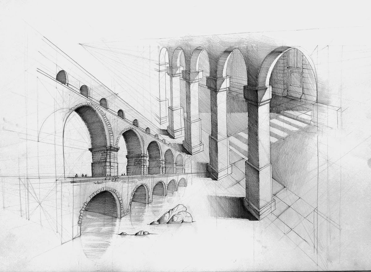 85 arcade architecture drawing 00 gerard michel urban for Architectural drawings online