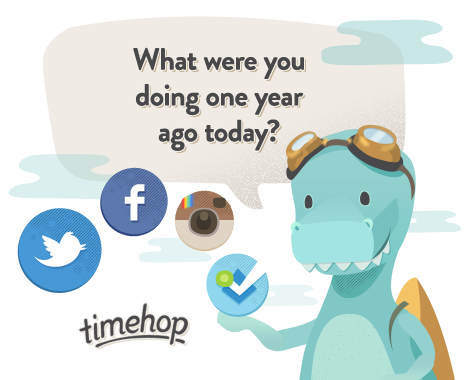 Timehop - Mesin Waktu Sosial Media di Android