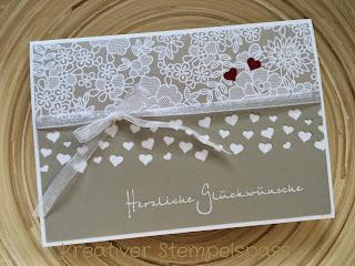 Hochzeitskarte Trau dich , Herzkonfetti