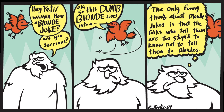 joke blonde: