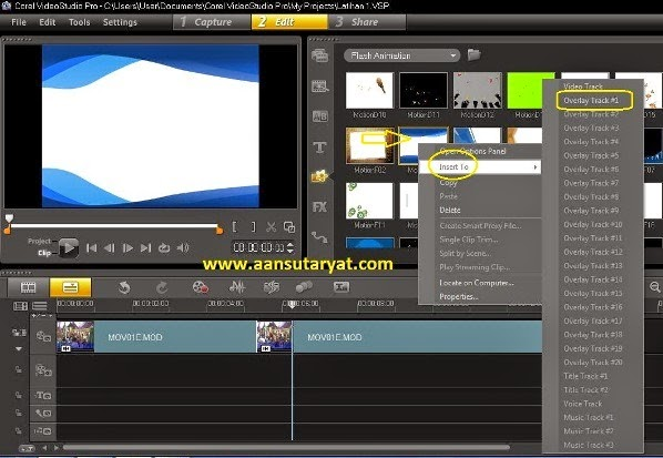 Memasukan Flash Animation Pada Editing Video