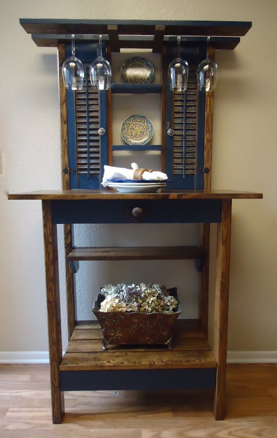 Vintage Shutter Accent Table - SOLD
