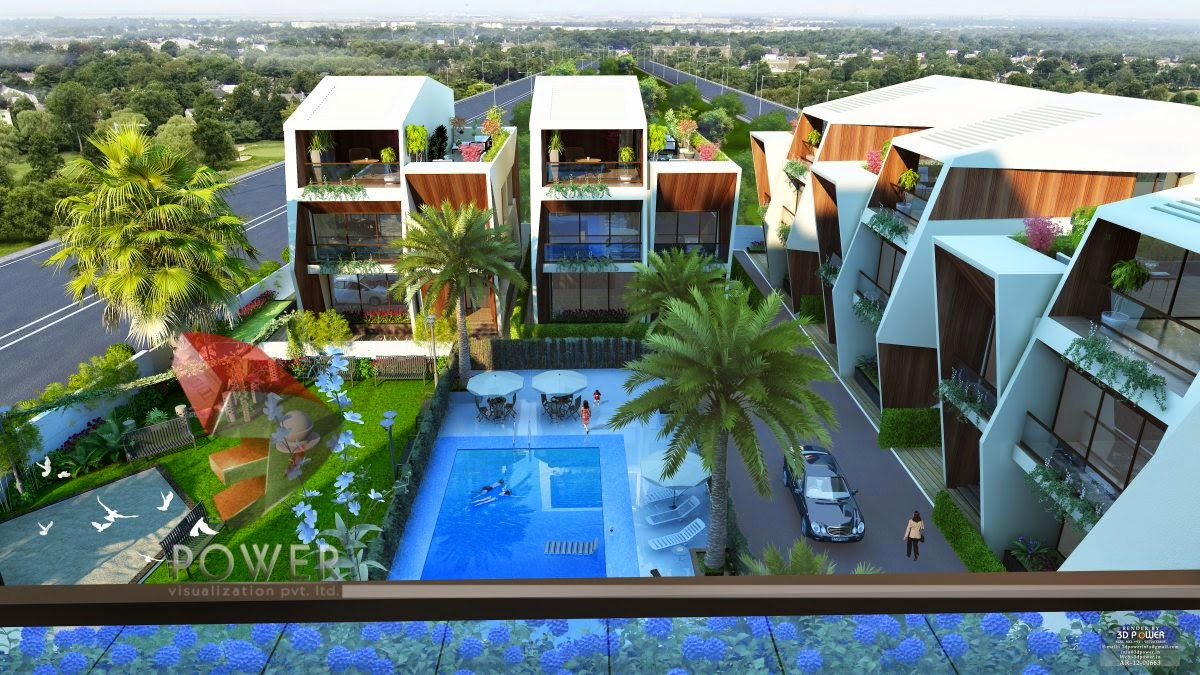 3D View of  Bungalow In Township
