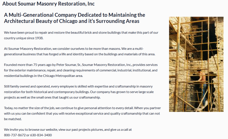 trusted provider of masonry restoration and repair services