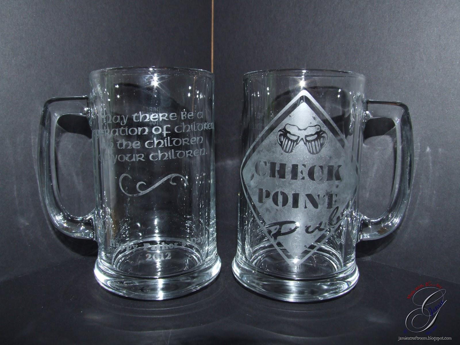 jamie s craft room etched beer mugs