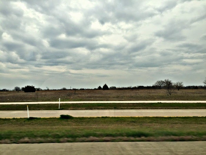 Cloudy day during a road trip to Dallas, TX