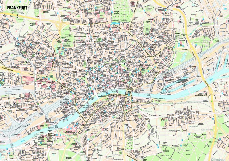 Frankfurt Tourist Map Pdf