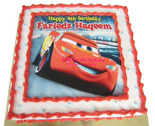Birthday Cake Edible ImageDisney Cars