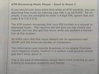 ATM Network distributes free MP3 Music