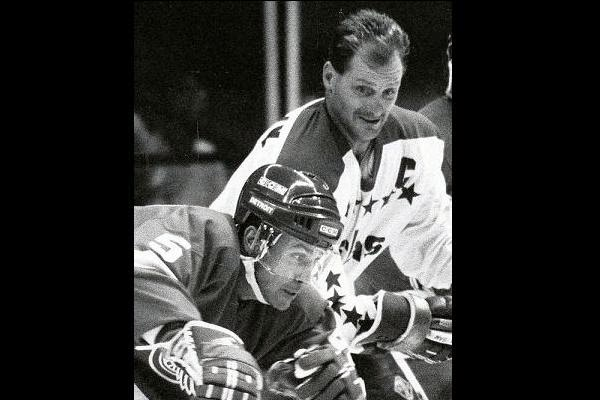 Montreal's side of the trade: defenseman Rick Green, here with Langway...