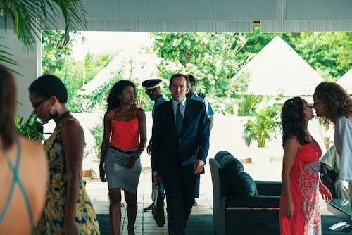 Death in Paradise, BBC1, Sara Martins and Ben Miller