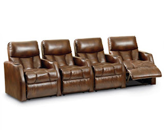 Lane 220 Marquee Home theater Seats in Brown Leather
