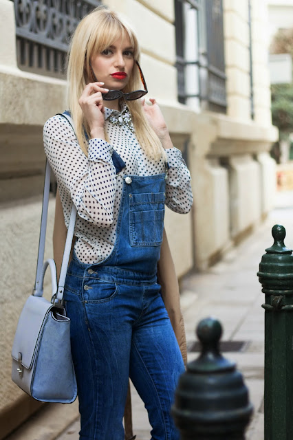 Polka dots & Denim jumpsuit