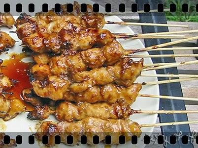 Resep Masakan Sate Ayam Saus Oncom