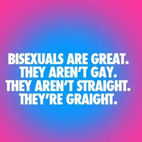 Bisexual people are