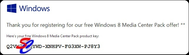 windows 8 pro with media center product key 2012