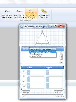 Solucionador de triângulos