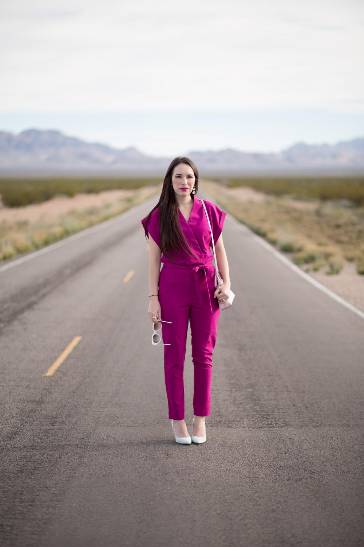 Hot Pink Jumpsuit