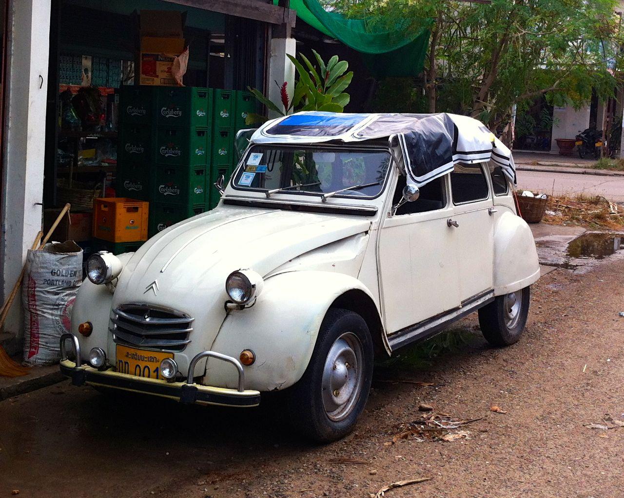 Old cars in Savanakhet, Laos
