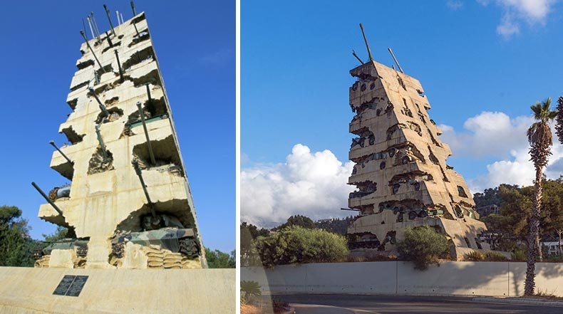 'Esperanza para la Paz', un monumento hecho de tanques en Yarze | Líbano