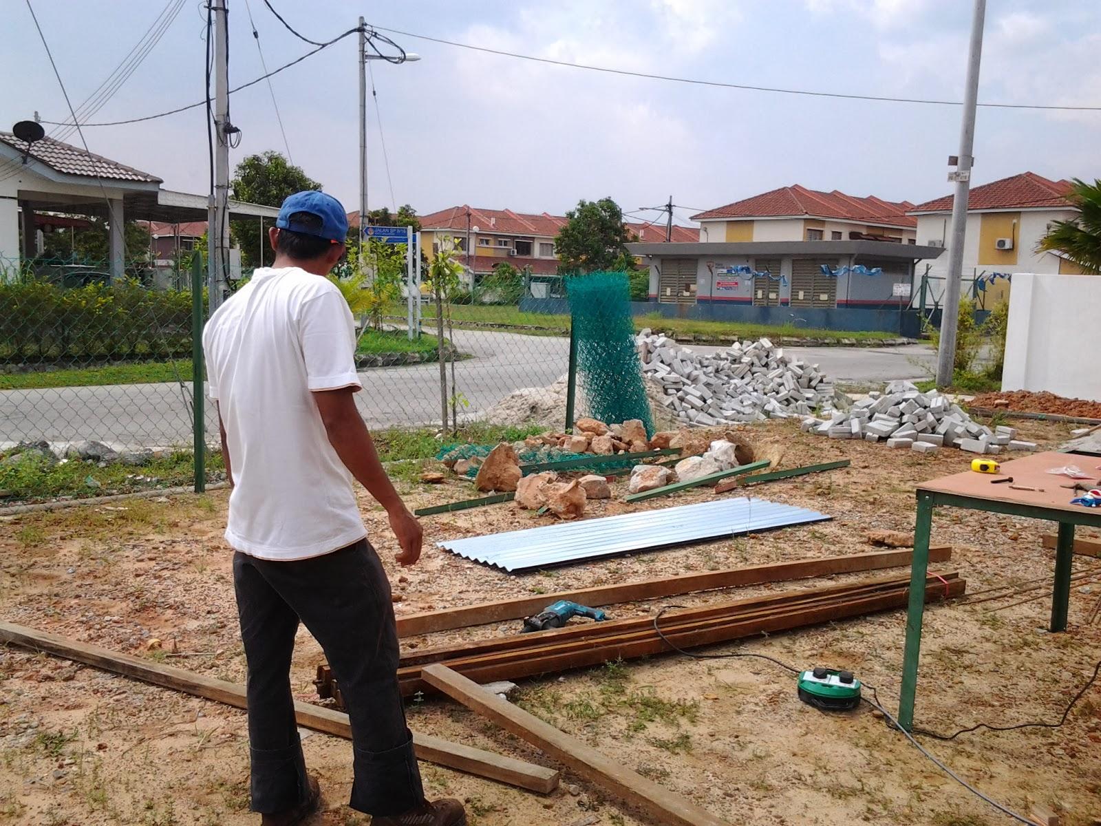 cerita bonda house project tmbh dapur n tembok pagar
