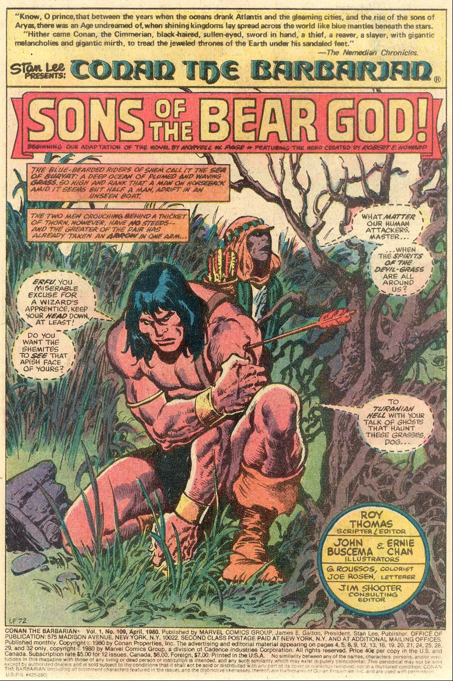 Conan the Barbarian (1970) Issue #109 #121 - English 2