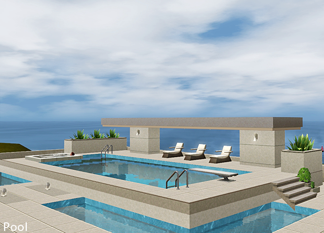 My sims 3 blog illuminate a futuristic modern home by for Sims 3 pool design