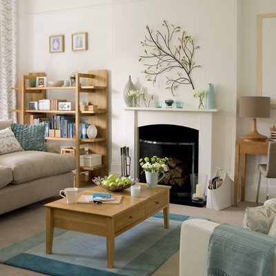 New home design ideas theme design 11 living room fireplace design ideas - Serene traditional cottage in natural theme ...