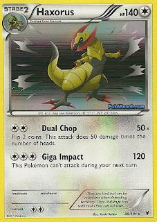 Haxorus Pokemon Card Noble Victories Set