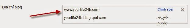 Cấu hình tên miền tùy chỉnh cho blogspot thành công