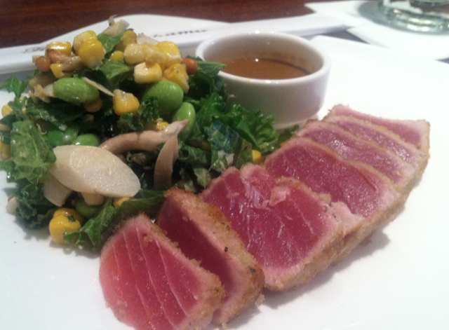 Seared tuna salad with guacamole and soy dressing Seared tuna salad with guacamole and soy dressing new photo