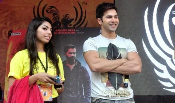 Varun Dhawan promotes 'Badlapur' at Mithibai college