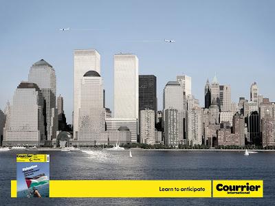 escandalosa publicidad de las torres gemelas mas pequeñas