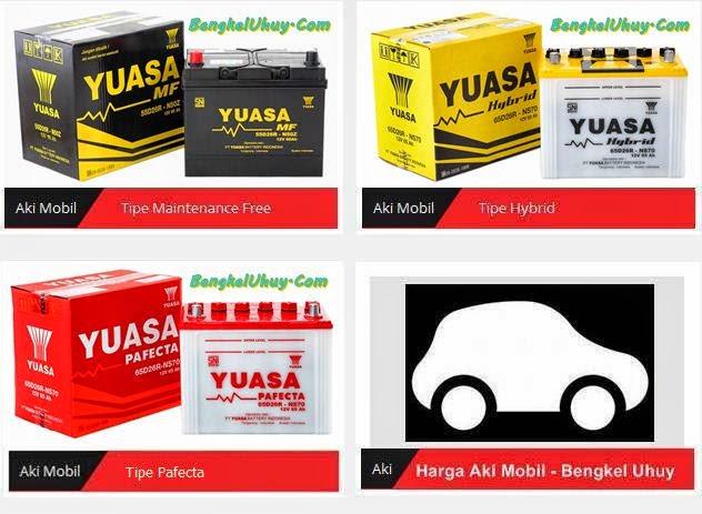 Daftar Harga Aki Accu Mobil YUASA Tipe MF Tipe Hybrid Dan