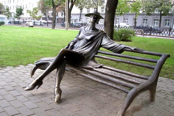 Statue Minchanka in Mihailovskiy Park - Belarus