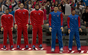 NBA 2K13 L.A. Clippers Warmup Uniforms