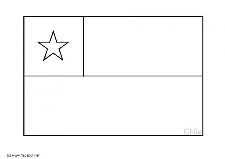 LAMINAS PARA COLOREAR - COLORING PAGES: Mapa y Bandera de Chile para ...