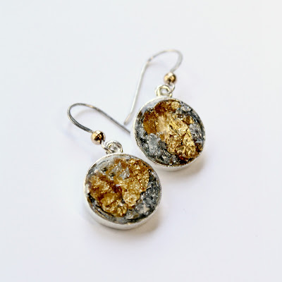 Gold and Silver drop earrings - catherine masi