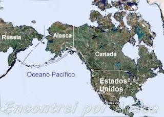 Localizao do Alasca no Mapa.