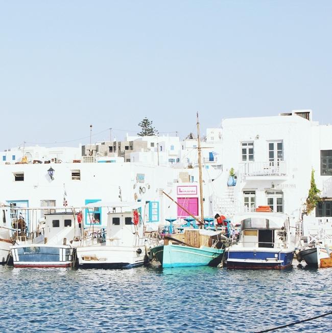 Jelena Zivanovic Instagram @lelazivanovic.Glam fab week.Naoussa,Paros,old port.Naoussa Paros limani.