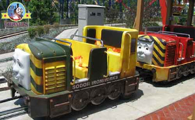 Thomas the tank engine Day of the Diesels Derby Sodor railroad ride Washington Six flags adventure