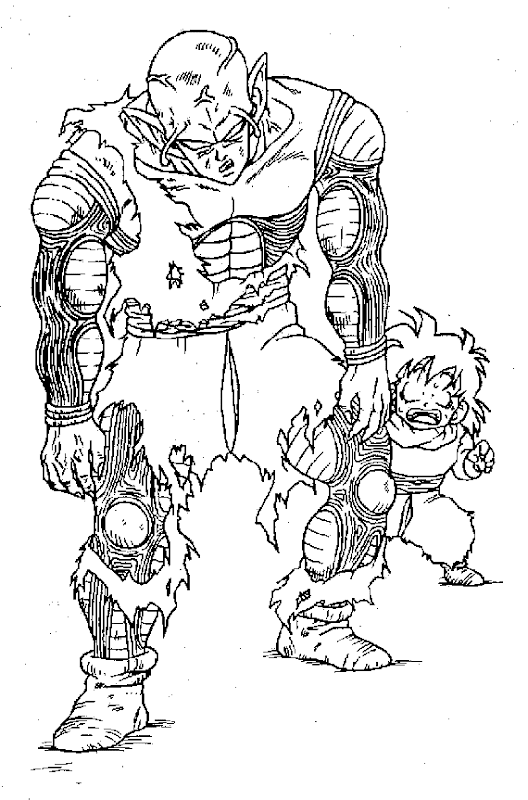Dragon Ball Z Coloring Pages In The Library